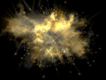 Colorful explosion with sparkles Royalty Free Stock Images