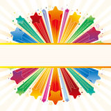 colorful explosion star Stock Photography