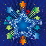 colorful explosion star Stock Photo