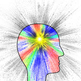 Colorful explosion of thought, pain or creativity Royalty Free Stock Photography