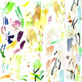 Colorful Expressionist Watercolor Brush Texture. For many purpose such as graphic design and illustration background etc. High Resolution JPEG Stock Image