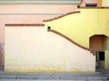 Colorful exterior wall and stairway. Exterior stairway in a Southwest U.S. city Stock Photos