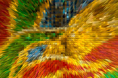 Colorful extrude abstract background Stock Images