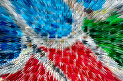 Colorful extrude abstract background Royalty Free Stock Photos