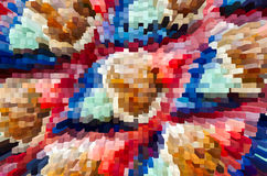 Colorful extrude abstract background Royalty Free Stock Images