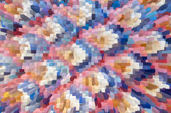 Colorful extrude abstract background Stock Photo