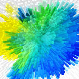 Colorful extrude geometric abstract background Royalty Free Stock Photography