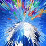 Colorful extrude geometric abstract background Stock Photo