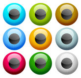 Colorful eye - eyeball icons - Vision, aesthetics concept icon Royalty Free Stock Images