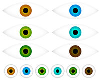 Colorful eye - eyeball icons - Vision, aesthetics concept icon Royalty Free Stock Photo