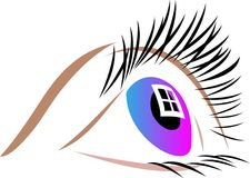 Colorful eye Stock Photography