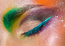 Colorful eye makeup Stock Photography