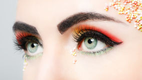 Colorful eye makeup Stock Photo
