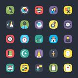 Bundle of App Flat Vectors. These colorful, eye pleasing flat icons belong to the category of apps. The objects in the set are so intricately designed using Stock Image