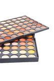 Colorful Eye Shadow Make Up Palette. Stock Photo