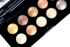 Colorful eye shadow make-up set. The eye shadow make-up set royalty free stock images