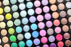 Colorful eye shadows Royalty Free Stock Photography