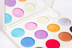 Colorful eye shadows Stock Image