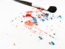 Colorful eye shadows Stock Images