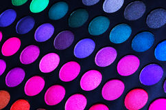 Colorful eye shadows palette. Beautiful colorful eye shadows palette Royalty Free Stock Images