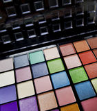 Colorful eye shadows palette Royalty Free Stock Image