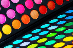 Colorful eye shadows palette Stock Photography