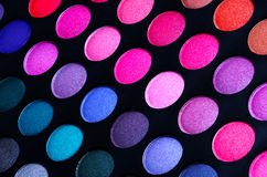 Colorful eye shadows palette. Makeup Royalty Free Stock Images