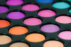 Colorful eye shadows palette. Royalty Free Stock Photos