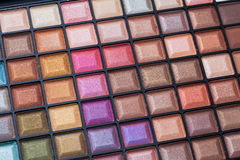 Colorful eye shadows palette. Stock Photo