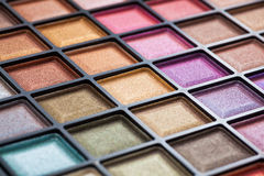 Colorful eye shadows palette. Stock Image