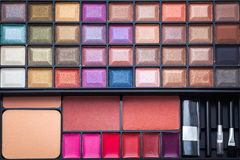 Colorful eye shadows palette. Stock Photography