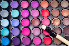 Colorful eye shadows palette Royalty Free Stock Photos