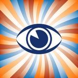 Colorful eye sunburst Stock Photo