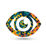 Colorful eye triangle pattern design Stock Photography