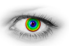 Colorful eye. Stock Photos