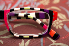 Colorful eyeglass frame Royalty Free Stock Photography