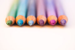 Colorful eyeliners. A still-life of some colorful pencils Royalty Free Stock Image