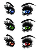 Colorful eyes Stock Photos