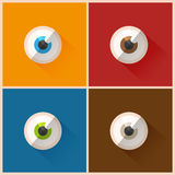 Colorful eyes. Set abstract design Royalty Free Stock Image