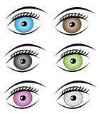 Colorful eyes set Royalty Free Stock Photos