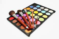 Colorful Eyeshadow with Blusher Royalty Free Stock Photos