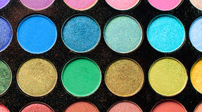 Colorful eyeshadow make up palette Stock Photo