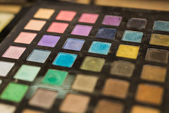 Colorful eyeshadow palette Stock Photos