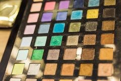 Colorful eyeshadow palette Stock Images