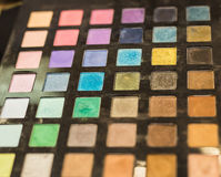 Colorful eyeshadow palette Stock Photo