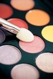 Colorful eyeshadow palette, vintage tones Stock Image