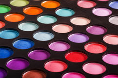 Colorful eyeshadow palettes Stock Image