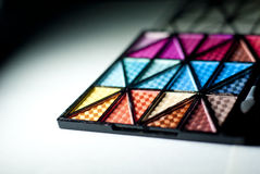 Colorful Eyeshadow. Shapes of colorful eyeshadow palette Stock Photography