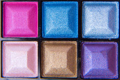 Colorful eyeshadows Stock Images
