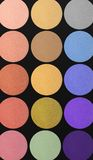 Colorful eyeshadows background Royalty Free Stock Photo